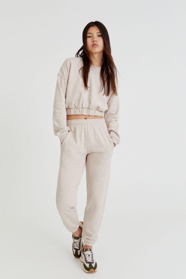 Moda adolescente otoño invierno 2021 pantalon felpa