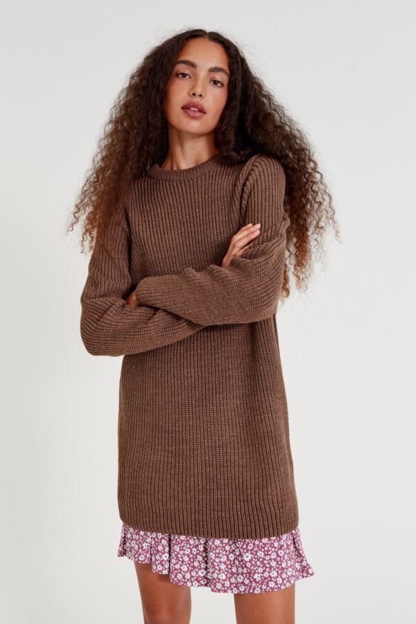 Moda adolescente otoño invierno 2021 vestido punto perlado