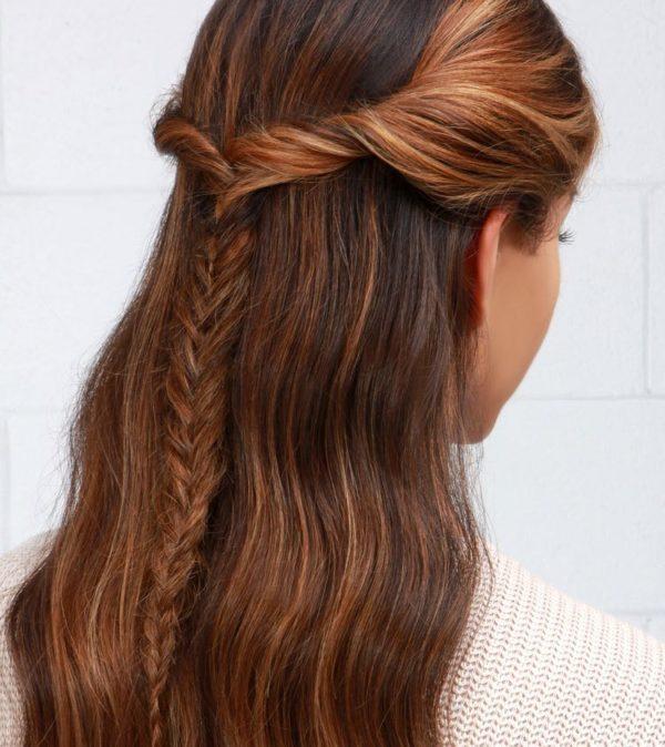 Peinados con trenzas cascada clasica