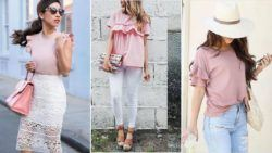 Cómo combinar una camiseta rosa