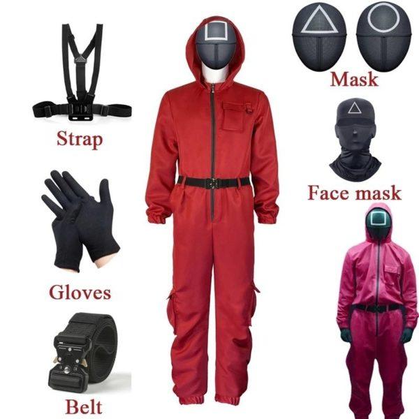 Disfraces de el juego del calamar para halloween 2021 diy facil disfraz guardian de aliexpress