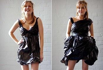 vestido de bolsas de basura Vestidos reciclados: Algunos ejemplos con galerías de fotos y videos.