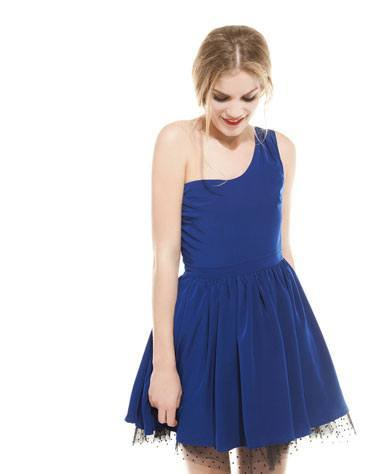 vestidos-cortos-primavera-verano-2014-vestido-azul-bershka
