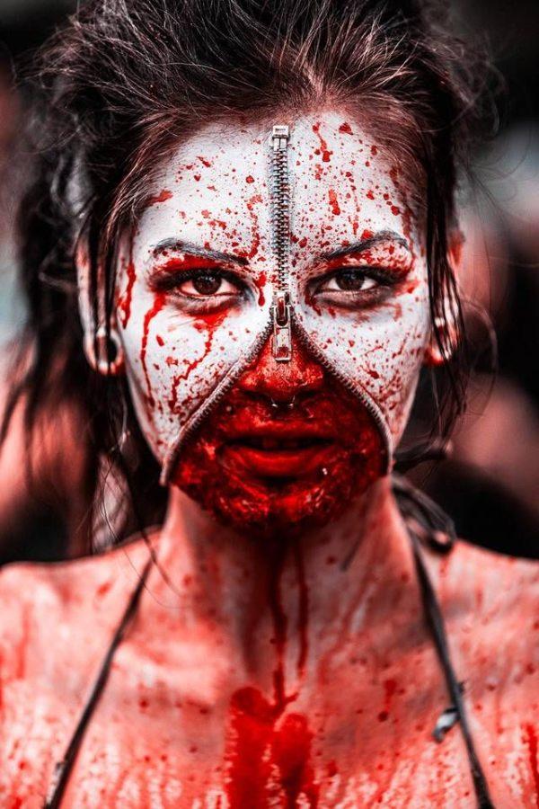 Halloween makeup terror