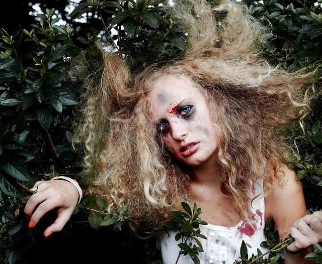 Ideas bonitas para peinados para halloween Imagen de ideas de color de pelo - Peinados para Halloween 2015 - ModaEllas.com