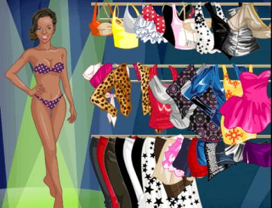 Rihanna juego de vestir desnudo