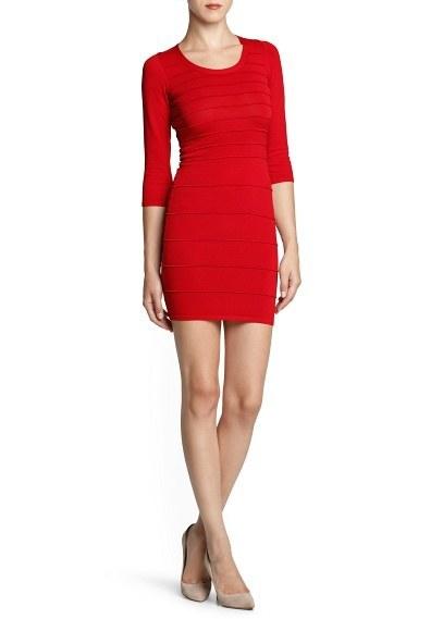 vestidos-para-navidad-2013-vestido-corto-mango-rojo