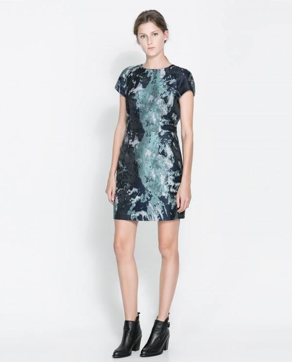 vestidos-para-navidad-2013-vestido-corto-zara-estampado-pintura