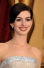 Actress Anne Hathaway arrives at the 81st Annual Academy Awards