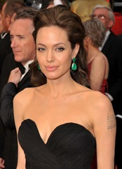 Actress Angelina Jolie arrives at the 81st Annual Academy Awards