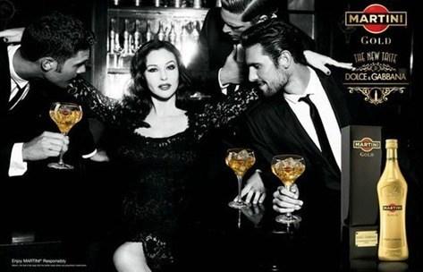 Monica-Bellucci- Martini Gold