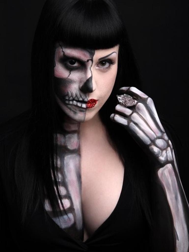 halloween-2014-disfraz-mitad-calavera-mitad-humana