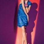short-blue-dress