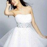 vestido graduacion blanco y corto