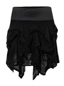 Kelly Ewing-Womens-curto-Hitch-preto de renda saia-1