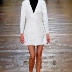 blanco negro vestido