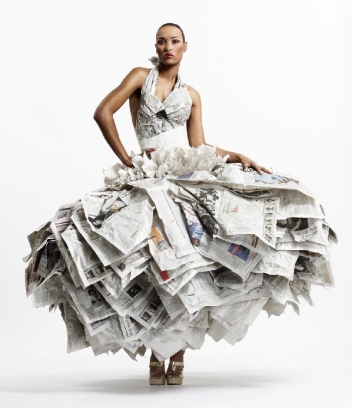 Recycled Fashion Dresses
