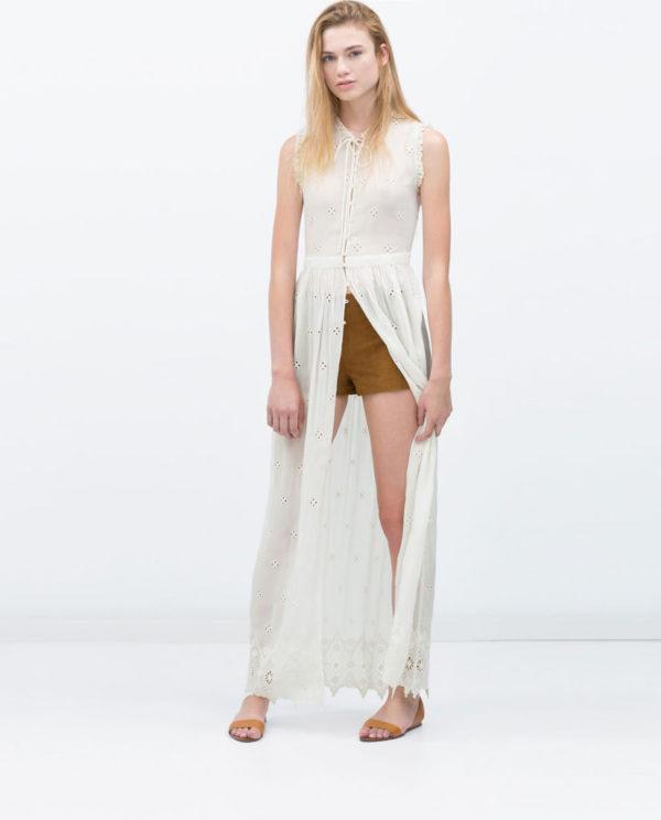 Vestido blanco zara verano 2019