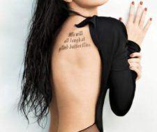 Los mejores tatuajes en la espalda de famosas