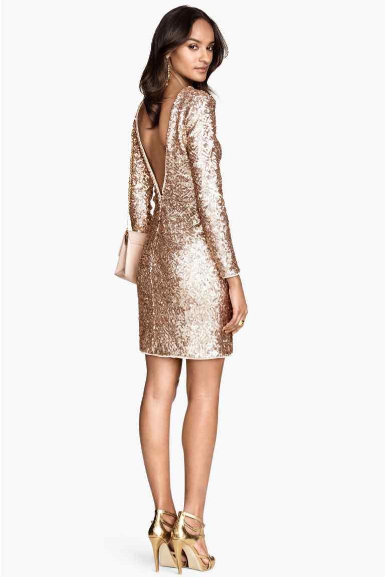 looks-de-noche-sofisticación-glam-vestido-brillante-de-h&m-otoño-invierno-2014-2015