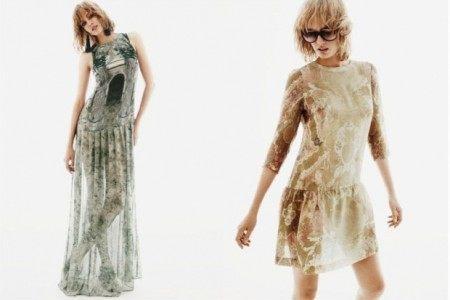 vestido largo con transparencias