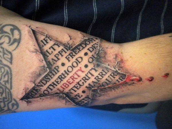 Tatuaje 3D: estrella