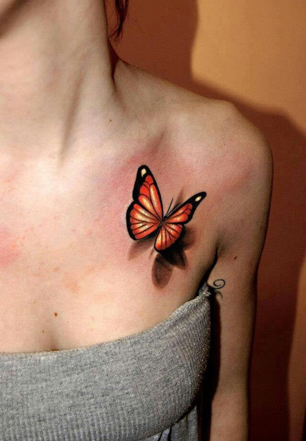fotos-de-tatuajes-3d-mariposa-color