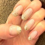 Glitter Gold Striping - bride 2013