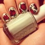 Rosas u%C3%B1as novias 2013 150x150 Decoración de uñas para novias 2013