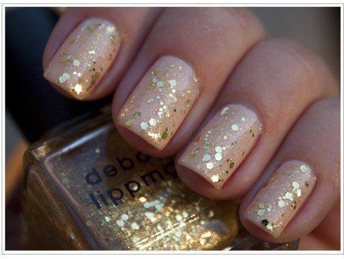 U%C3%B1as doradas Decoración de uñas para novias 2013