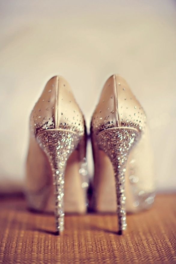 bride shoes glitter