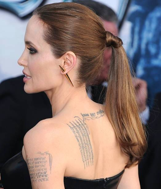 Angelina Jolie Tattoos 2019: Los Tatuajes De Angelina Jolie 2019