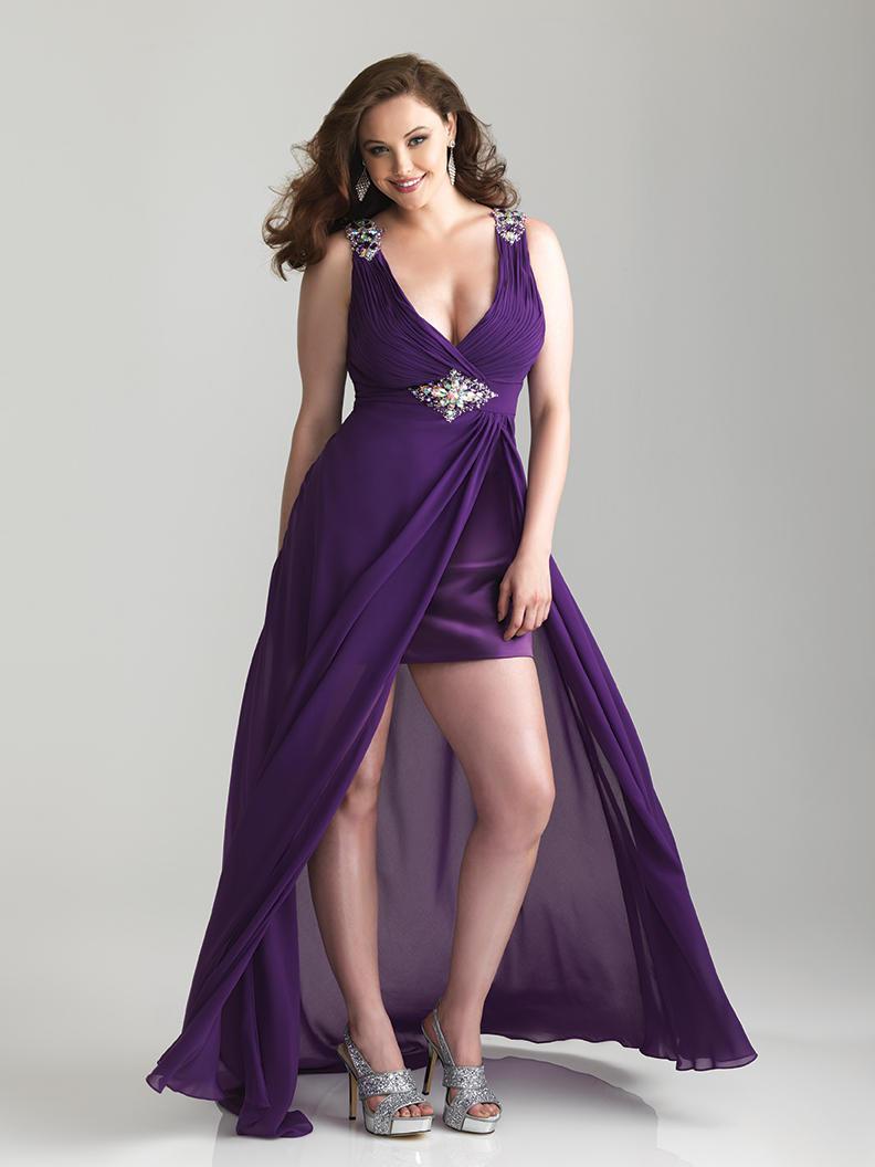 vestidos-tallas-grandes-primavera-verano-2014-colección-Allure-night-moves-vestido-morado