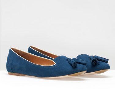 Mocasines azules Stradivarius