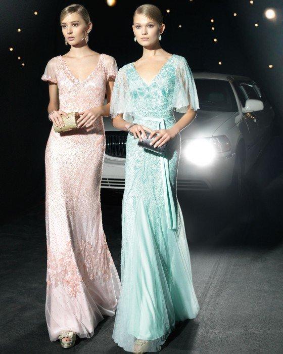 18f39f335 Vestidos de fiesta Rosa Clara primavera verano 2014 - Noticanarias ...