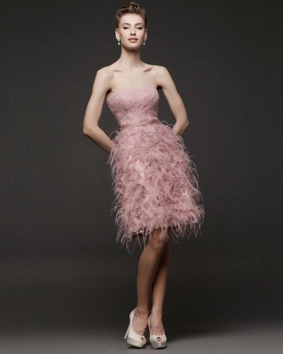 Vestidos de fiesta cortos rosa clara 2015