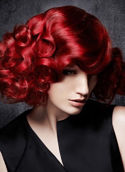 cabello rojo Cortes de pelo de mujer otoño invierno 2013   2014