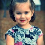 media melena recogido flequillo 150x150 Cortes de pelo para niñas otoño invierno 2013  2014