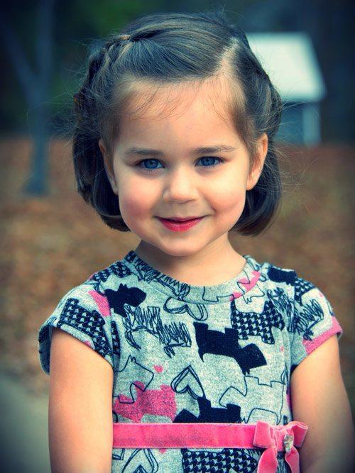 media melena recogido flequillo Cortes de pelo para niñas otoño invierno 2013  2014