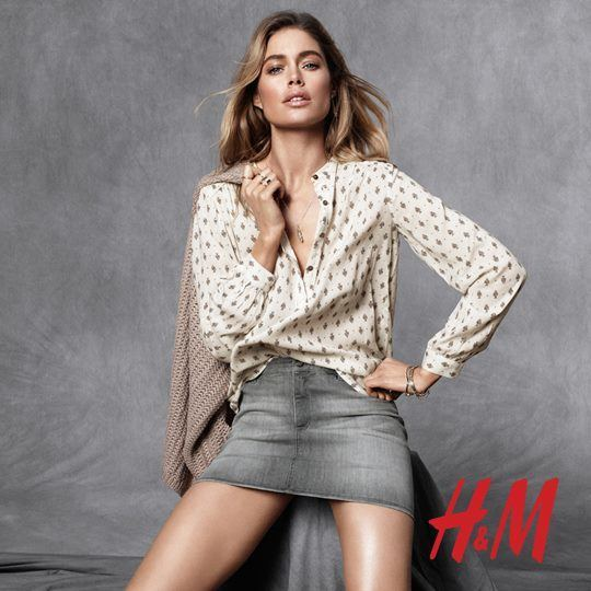 catalogo-h&m-blusa-estampada-falda-corta