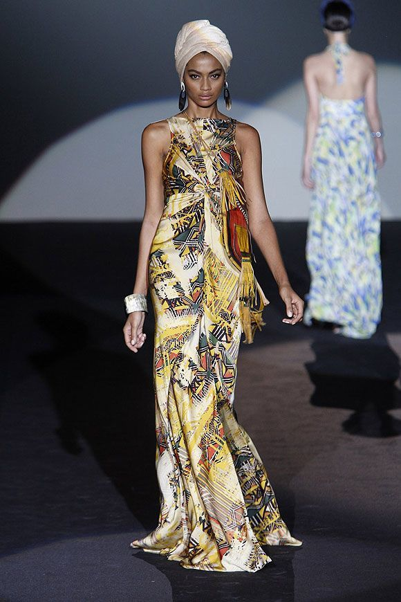 Tendencias-Moda-Madrid-Fashion-Week-primavera-verano-2014-vestido-largo-estampado-roberto-verino