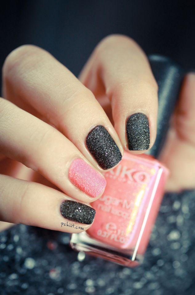 Uñas manos con purpurina