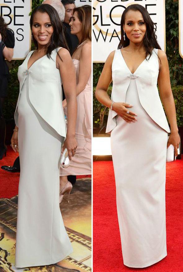 vestidos-de-fiesta-y-noche-de-famosas-embarazadas-verano-2014-kerry-washington-vestido-de-balenciaga