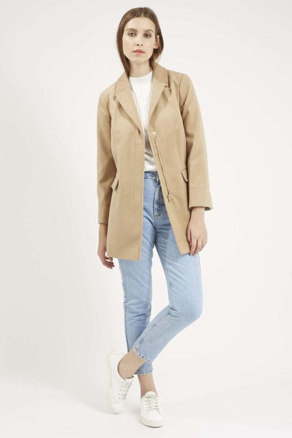 abrigos-mujer-otono-invierno-2015-2016-abrigo-slim-fit-de-top-shop-color-beige