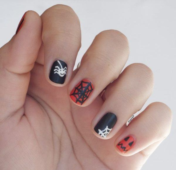 Decorated Halloween nails
