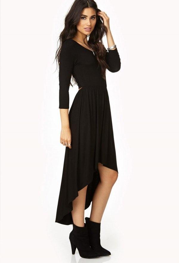 vestidos-navidad-2013-largo-negro-forever-21