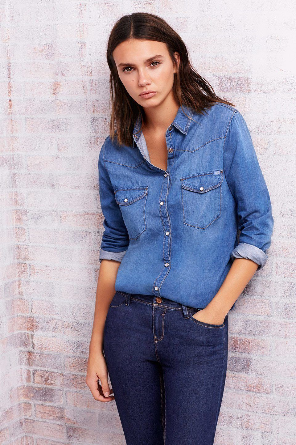 catalogo-lefties-zara-otono-invierno-2014-2015-moda-denim-camisa-tejana