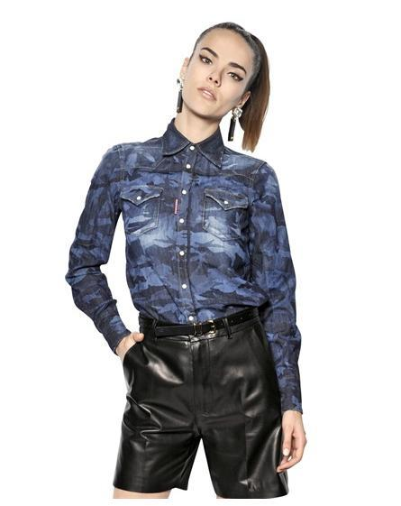 camisas-mujer-2014-tendencias-camisa-denim-dsquared