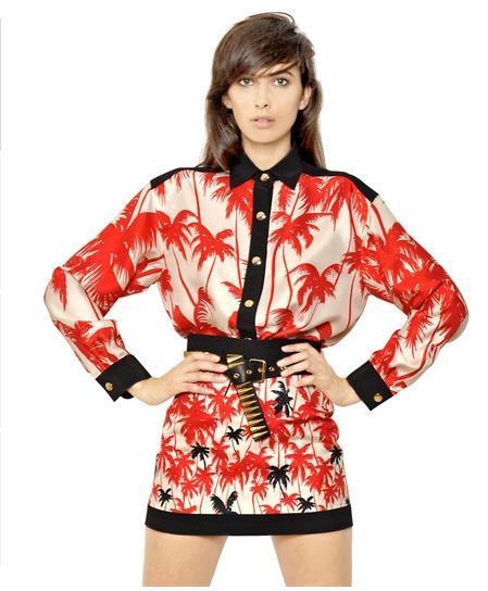 camisas-mujer-2014-tendencias-camisa-floreada-Fausto-Puglisi