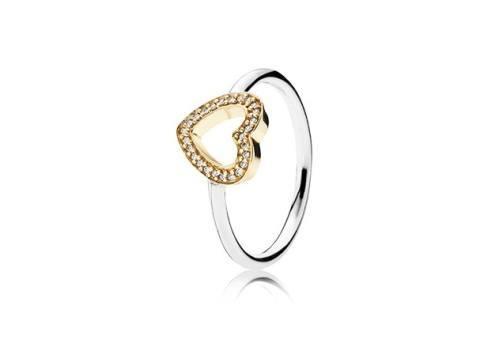 pandora anillo dos corazones